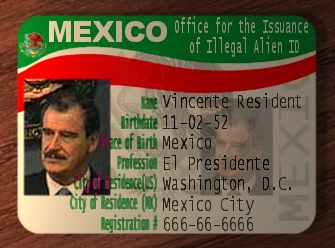 Mexican Office of Illegal Alien ID official Mexican ID