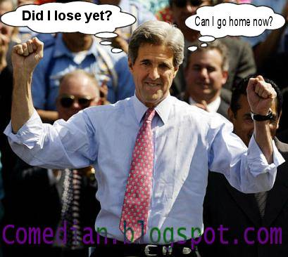 Senator John Kerry, the loser, looking sad.